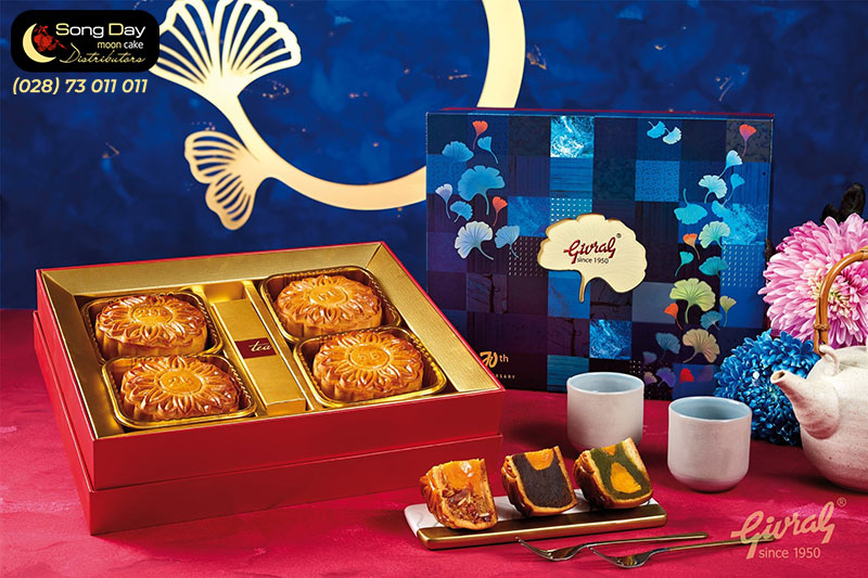 Mẫu hộp bánh Givral 4 bánh loại nhỏ 1