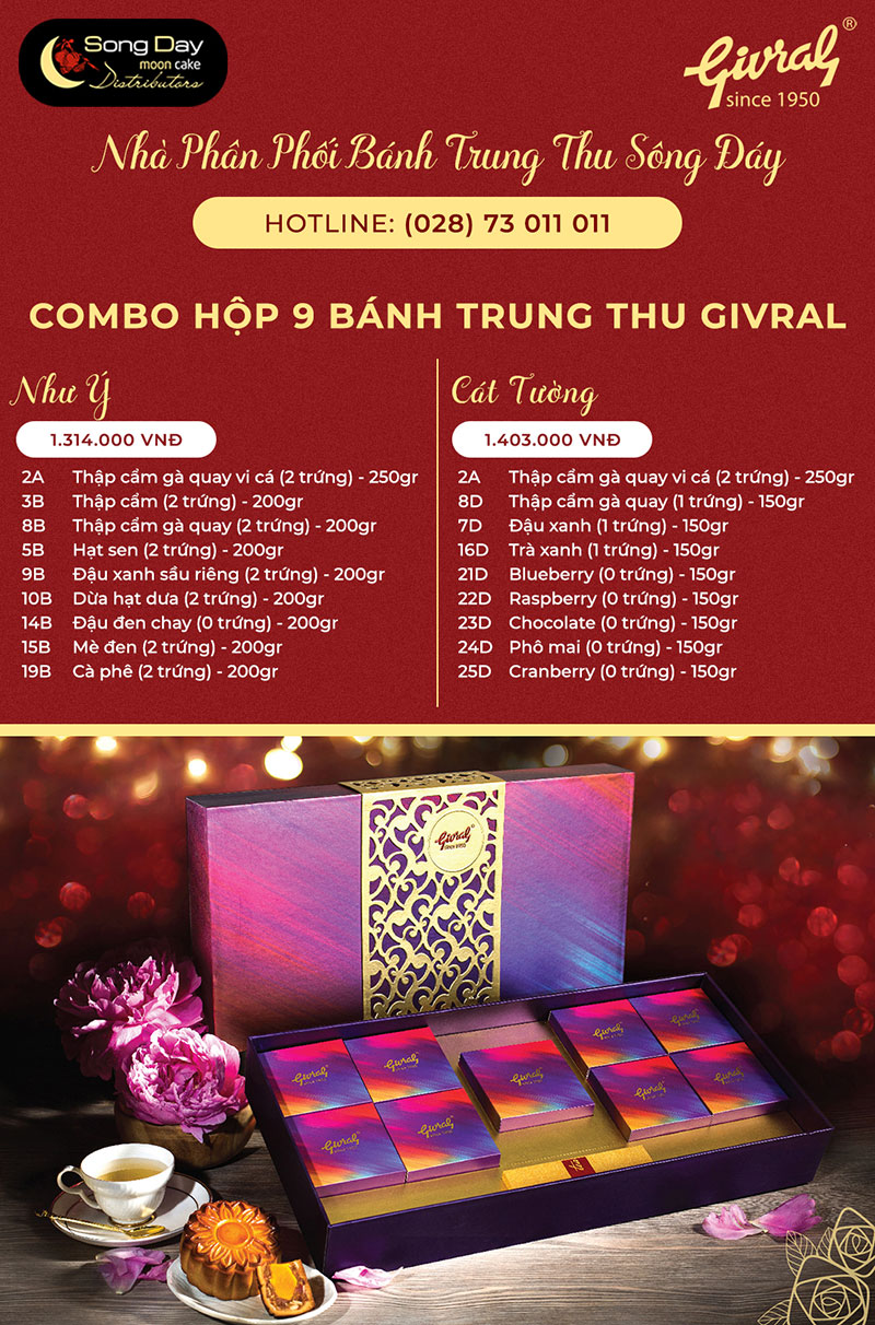 combo givral 9 banh nhu y - cat tuong